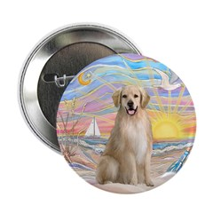 "OceanSunrise-Golden#8 2.25"" Button (100 pack)"