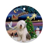 Xmas Magic &amp; Old English Ornament (Round)