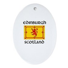Cute Edinburgh Oval Ornament