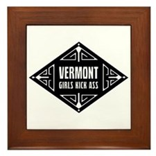 Vermont Girls Kick Ass Framed Tile