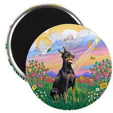 """Guardian-Doberman#1 2.25"""" Magnet (10 pack)"""