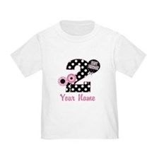 2nd Birthday Pink and Black T
