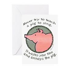 Singing Pig Greeting Cards (Pk of 10)
