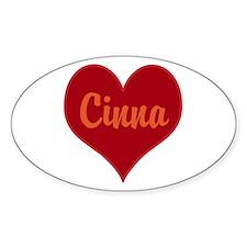 I Love Cinna Bumper Stickers