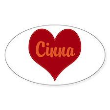 I Love Cinna Sticker (Oval)