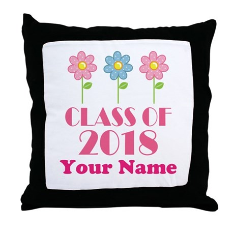 Personalized 2018 School Class Throw Pillow
