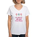 Personalized 2022 School Class Women's V-Neck T-Sh