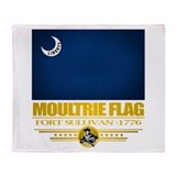 """Moultrie Flag"" Throw Blanket"