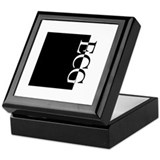 ECG Typography Keepsake Box