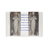 Serenity prayer and angels Rectangle Magnet (10 pa