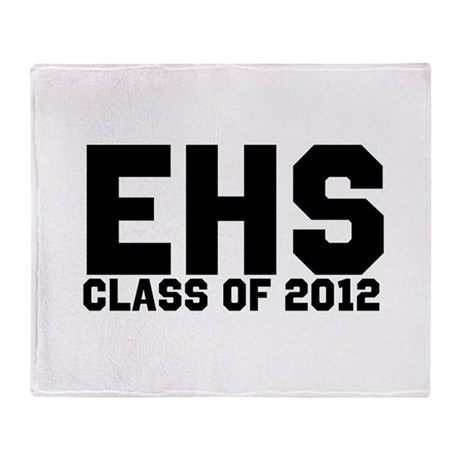 2012 Graduation Throw Blanket