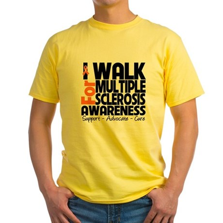 I Walk Multiple Sclerosis Yellow T-Shirt