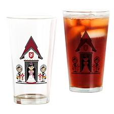 Princess & Crusader Knights Drinking Glass