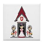Princess & Crusader Knights Tile Coaster