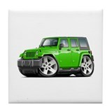Wrangler Lime Car Tile Coaster