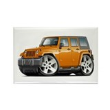 Wrangler Orange Car Rectangle Magnet