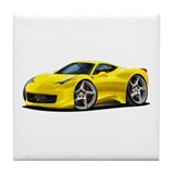458 Italia Yellow Car Tile Coaster