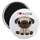 I Heart My Pug Magnet