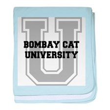 Bombay Cat UNIVERSITY baby blanket