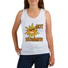 Hot Summer Sun Cartoon Women's Tank Top