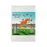 Agility Champion Show Off Rectangle Magnet (10 pac