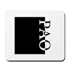 PAO Typography Mousepad