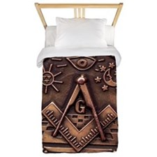 Bronze Freemasonry Twin Duvet