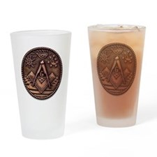 Bronze Freemasonry Drinking Glass