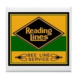 Reading Bee Lines  Tile Coaster