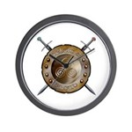 Shield and swords Wall Clock