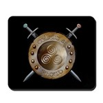 Shield and swords Mousepad