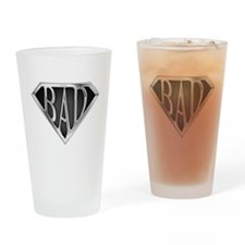 SuperBad(metal) Drinking Glass