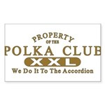Polka Club Sticker (Rectangle 50 pk)