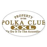 Polka Club Sticker (Oval 50 pk)