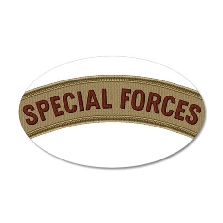 Special Forces(Desert) 38.5 x 24.5 Oval Wall Peel