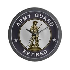Army Guard Retired Wall Clock
