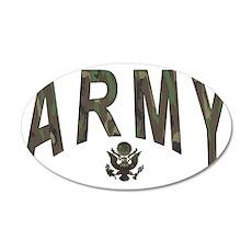 Army & Eagle 38.5 x 24.5 Oval Wall Peel