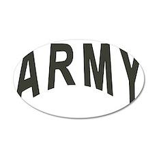Army 22x14 Oval Wall Peel