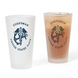U.S. Navy Corpsman Drinking Glass