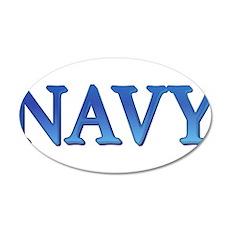 Navy 38.5 x 24.5 Oval Wall Peel
