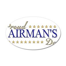 Airman's Dad 38.5 x 24.5 Oval Wall Peel
