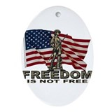 FREEDOM NOT FREE Ornament (Oval)