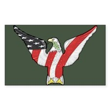 Flagged Eagle Decal