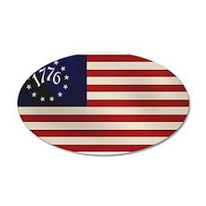 1776 Flag 22x14 Oval Wall Peel