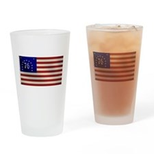 Bennington 1776 Flag Drinking Glass