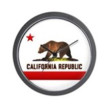 California Bear Wall Clock