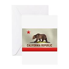 California Bear Flag Greeting Card