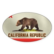 California Bear Flag Decal
