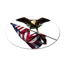 Eagle & Flag 22x14 Oval Wall Peel