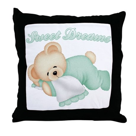 Sweet Dreams Bear Throw Pillow